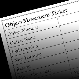 Object movement tickets