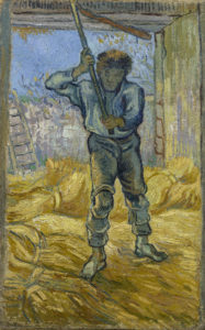 Van Gogh's Thresher (after Millet), also Saint-Rémy-de-Provence, September 1889.