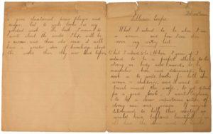 1920 essay by 13-year-old Rochdale schoolgirl Lillian Coope