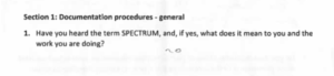 Question: Have you heard of the term Spectrum?