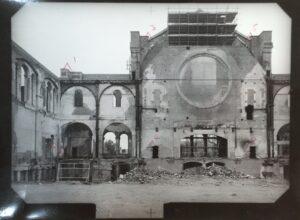 Alexandra Palace,  interior ruins after fire