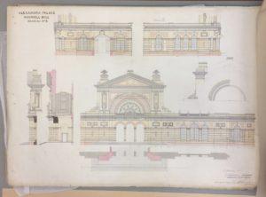 Alexandra Palace,  J Johnson drawing 8