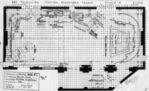 Alexandra Palace, Studio A - Floorplan - December 1952