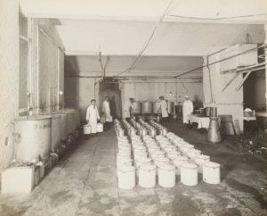 Alexandra Palace,  basement milk store