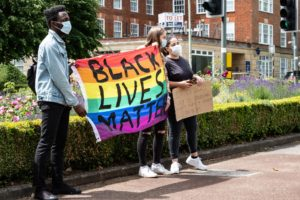 Black Lives Matter protest in WGC - taken by Siouxsie Helliwell and donated to Welwyn Hatfield Museum Service